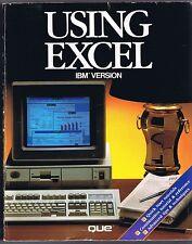 Using Excel IBM Version (1988, QUE) Free USA Shipping!