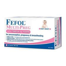 ツ FEFOL MULTI-PREG WITH OMEGA-3 & IODINE 60 SOFT CAPSULES PREGNANCY  BABY SMART