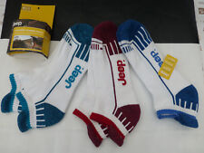 JEEP Cushion Trainer Sock M863 Mix White Stripe UK 6-11 Sport Ankle Socks BNIP