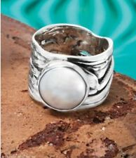 Silpada Mermaid Pearl Ring New R1542  Size 8 New Was $109