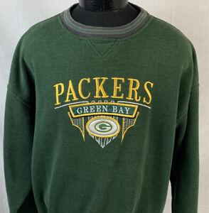 Vintage Green Bay Packers Sweatshirt NFL Football Crewneck XL Logo 90s Team