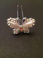 4 Butterfly Hair Slides Accessories Bride Bridesmaid Flower Girl Wedding