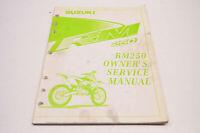 OEM Suzuki 99011-37E53-03A Owner's Manual RM250X 1999