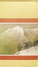 Noren Japonés Colgante Puerta Cortina Tapiz Nieve Mountain 2 Beige Taikan Japón
