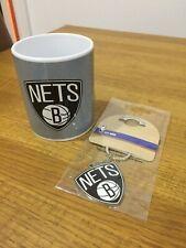 NBA Brooklyn Nets Mug and Keyring. Basketball Official Merchandise. Great gift