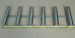 6 TUBE STAINLESS STEEL 316 BOAT FISHING ROD HOLDER (40 mm tube)