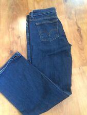 Women's Levis 515 Boot Cut Dark Blue Denim Jeans Sz 12P Medium