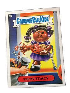 Garbage Pail Kids Tricky Tracy 24a Glossy Sticker Card Unused Flashback Vintage