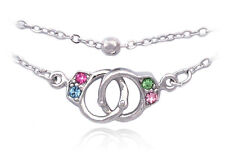 Colorful Handcuffs Anklet Ankle Bracelet Bead Chain Jewelry Girl Friend Gift