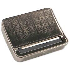 Zigarettenrollbox aus Metall in silber gemustert / 78704