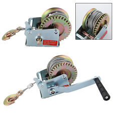 Manual Hand Winch 600lbs Boat Trailer Caravan 6m 19ft Strap Marine Puller New UK
