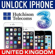 EXPRESS FACTORY UNLOCK CODE SERVICE FOR IPHONE 7/ 7+ PLUS LOCKED TO 3 THREE UK