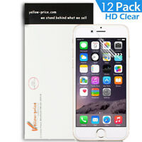 12X YELLOWPRICE HD Clear Screen Protector Shield Saver For Apple iPhone 6S Plus