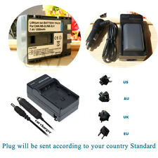 Battery + Charger for Canon NB-2LH NB-2L BP-2L5 E160814 EOS 400D 350D G9 G7