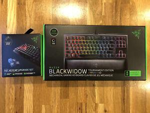 Razer BlackWidow TE Chroma v2 TKL [Green] w/ Razer Black PBT keycaps incl. *READ