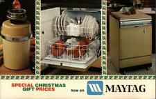 Advertising Dependable Maytag Dishwashers Chrome Postcard Vintage Post Card