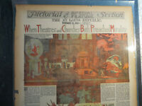 Religion History Newspaper 1914 WHEN THEATRES and CHURCHES BOTH PREACHED MORALIT