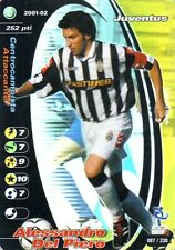 FOOTBALL CHAMPIONS 2001-02 Alessandro Del Piero 087/230 Juventus FOIL