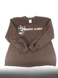 Skagway Alaska Preserve For Today & Tomorrow Brown Long Sleeve T-Shirt Size S
