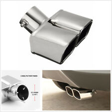 "2.5"" Stainless Steel CURVED 1to2 Twin End Tip Auto Car Exhaust Pipe Muffler Tip"