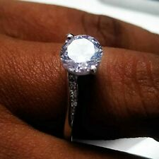 1 Ct Round Cut Diamond Sterling Silver Solitaire Bypass Engagement Wedding Ring