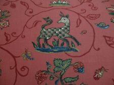 Schumacher Curtain Fabric 'LA MENAGERIE' 3.1 METRES (310cm) FLAME RED 100% Linen