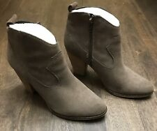 Steve Madden Women's Plover Suede Bootie Heel Taupe Size U.S: 8.5 Shoes Mint! 🔥