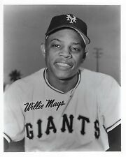 WILLIE MAYS 8X10 PHOTO SAN FRANCISCO GIANTS PICTURE BASEBALL MLB CLOSE UP B/W