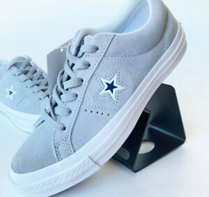 Converse Cons One Star Suede Molded Ox Sneaker Grau Weiß Grey White 159733C SALE