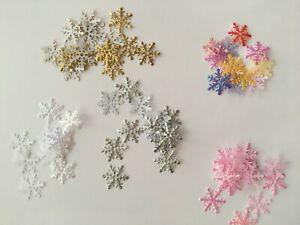 250+ Christmas Luminous Snowflake Confetti Table Party Decorations