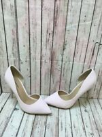 CALL IT SPRING Light Pink Leather Pointy Toe Slip On High Heels Women's Size 7