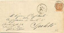 P7233   Terni,  annullo numerale a sbarre 1887