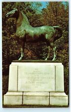 *Statue Justin Morgan Horse University of Vermont Morgan Horse Farm Postcard B87
