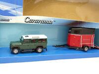 Cararama 1/43 - Land Rover + Remorque Van à Chevaux