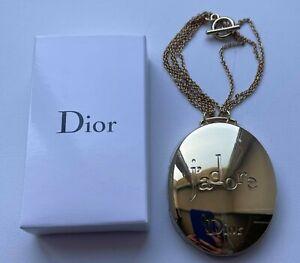 DIOR MIRROR CHARM GOLD LOGO JADORE ON CHAIN VIP GIFT