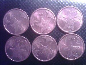 BAHAMAS ISLAND ONE CENT   2009   SIX  COINS    SEP17