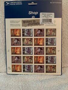 Women in Journalism Full Pane 37C New US Stamps 453215 NIP 2001