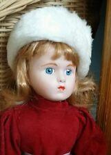 The Heritage Mint Ltd Collection - Jennifer  Porcelain Doll + Stand - Christmas