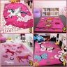 Kids Animal Rug for Girls Room Pink Baby Nursery Carpet Childrens Playroom Mats