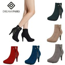 DREAM PAIRS Womens Fashion Ankle Boots Stiletto High Heels Zip Up Winter Booties
