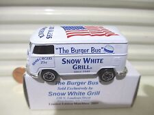 Matchbox Limited Edition 2001 SNOW WHITE GRILL THE BURGER BUS VW Volkswagen Van
