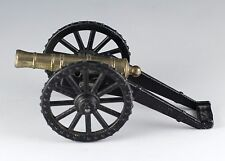 Vintage Penncraft Miniature 4.5 Inch Military Die Cast Metal Brass Cannon Toy