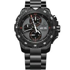 Victorinox Swiss Army Men's Watch Alpnach Black SS Bracelet Grey Dial 241573