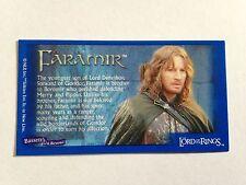 Lord Of The Rings - Bassett / Barratt Trading Cards - Faramir - Cigarette Cards