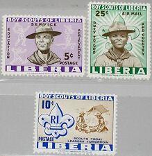 LIBERIA 1961 573-75 A 399-00 C135 Boy Scouts Pfadfinder Badge Camp Emblem MNH
