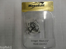 "MegaBait Stringer ""Med"" 2 3/4"", Treble Hook Size 2 (New/Old Stock)"