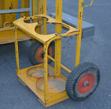 Heavy Duty Oxy Gas cutting bottle trolley truck crane fork liftable LAST ONE