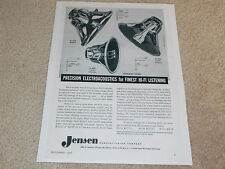 Jensen H-222, G-610, H-530 Triaxial, Coaxial Speaker Ad, 1 pg, 1956, Article