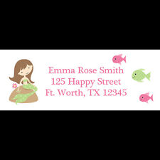 30 Return Address Labels - Mermaid