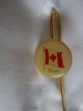 VINTAGE METAL BOOKMARK -CANADA FLAG